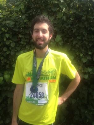 Noah Langholz '14, taken on Sunday March 17, 2013 after finishing the LA Marathon in 4.5 hours.