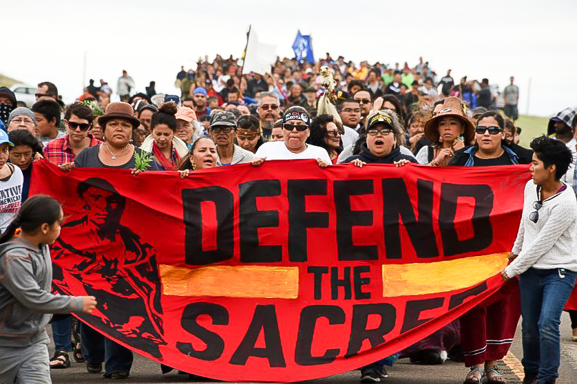 Waco: Group protests Dakota Access Pipeline