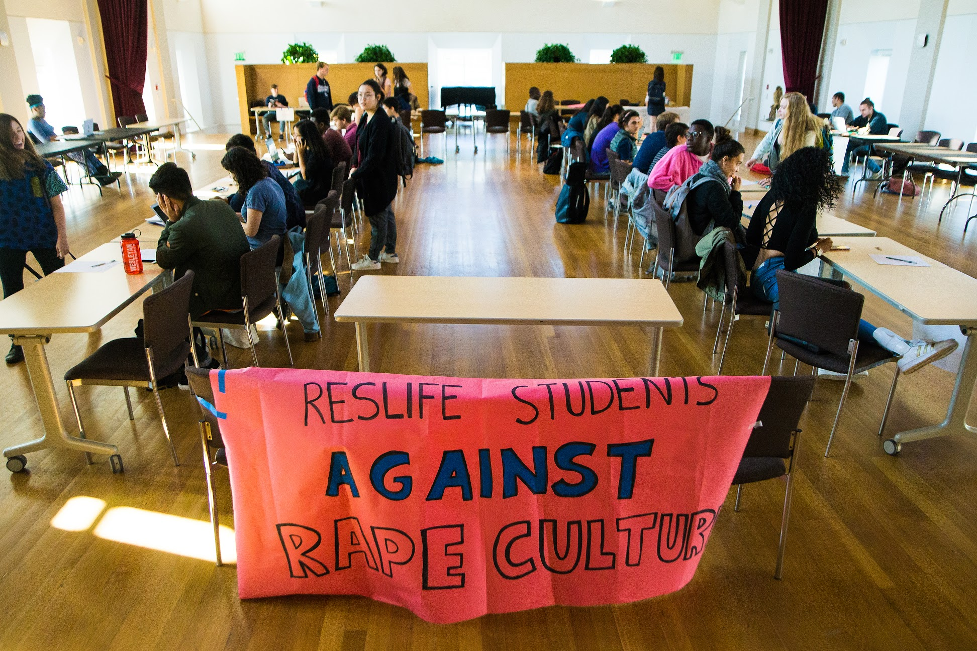 On Wednesday, Nov. 2, student staff of ResLife protested what they see as its failure to properly address accusations of sexual assault.