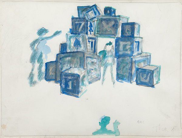Paul Thek Child's Arc De Triomphe, 1985 pencil and watercolor on paper 18 x 24 in/45.7 x 61 cm photo: Bill Orcutt ©Estate of George Paul Thek, Courtesy Alexander and Bonin, New York